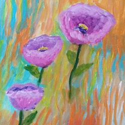 the poppies, 8 x 10 inch, reema pereira,8x10inch,canvas,paintings,abstract paintings,flower paintings,paintings for dining room,paintings for living room,paintings for bedroom,acrylic color,GAL02172034597