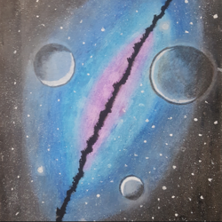 universe art, 8 x 6 inch, praneetha rao,8x6inch,drawing paper,drawings,abstract drawings,abstract expressionism drawings,expressionism drawings,surrealism drawings,paintings for living room,paintings for bedroom,paintings for office,paintings for kids room,paintings for hotel,paintings for school,pastel color,GAL02162934619
