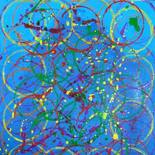 organized chaos, 12 x 10 inch, kangana wadhwa,12x10inch,canvas board,abstract paintings,paintings for bedroom,paintings for bedroom,acrylic color,GAL02266934629