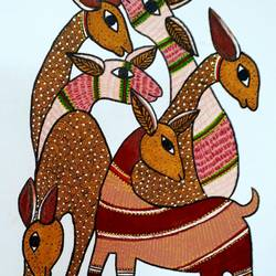 gond painting, 14 x 18 inch, preeti  singh,14x18inch,canvas,paintings,gond painting.,acrylic color,poster color,GAL02268434640