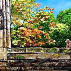 fort window, 20 x 30 inch, manoshi bhargava,20x30inch,canvas,paintings,still life paintings,nature paintings | scenery paintings,oil color,GAL01473034691