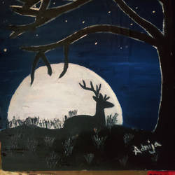 the night, 8 x 10 inch, adrija choudhury,8x10inch,canvas,nature paintings | scenery paintings,oil color,GAL02286934698