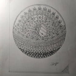basket of patterns, 6 x 8 inch, adrija choudhury,6x8inch,drawing paper,drawings,fine art drawings,graphite pencil,paper,GAL02286934699