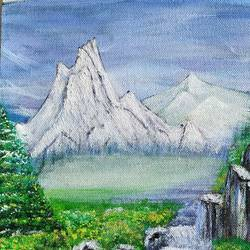 snowy mountains, 12 x 9 inch, sunayana tiwari,12x9inch,canvas,paintings,landscape paintings,nature paintings | scenery paintings,paintings for living room,paintings for bedroom,paintings for office,paintings for hotel,paintings for hospital,paintings for living room,paintings for bedroom,paintings for office,paintings for hotel,paintings for hospital,acrylic color,GAL02015334713