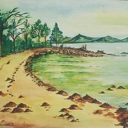 scenery, 13 x 9 inch, vrushali bhutada,13x9inch,brustro watercolor paper,paintings,landscape paintings,paintings for living room,paintings for office,paintings for hotel,watercolor,GAL02073234723
