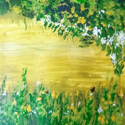 nature, 9 x 11 inch, priyaneeti kumar,9x11inch,cartridge paper,paintings,landscape paintings,acrylic color,GAL02292334737