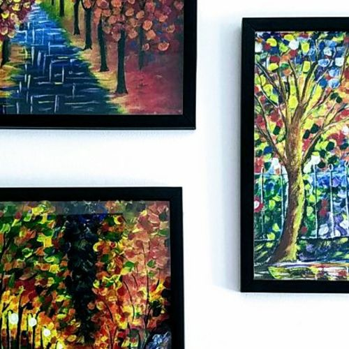 set of rainy street paintings, 16 x 20 inch, sunayana tiwari,16x20inch,canvas,paintings,abstract paintings,cityscape paintings,landscape paintings,modern art paintings,paintings for living room,paintings for bedroom,paintings for office,paintings for hotel,paintings for hospital,acrylic color,GAL02015334742