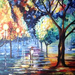 a walk to cherish , 36 x 24 inch, sneha villait,36x24inch,canvas,landscape paintings,modern art paintings,illustration paintings,street art,contemporary paintings,love paintings,paintings for dining room,paintings for living room,paintings for bedroom,paintings for hotel,paintings for dining room,paintings for living room,paintings for bedroom,paintings for hotel,acrylic color,GAL02295134745