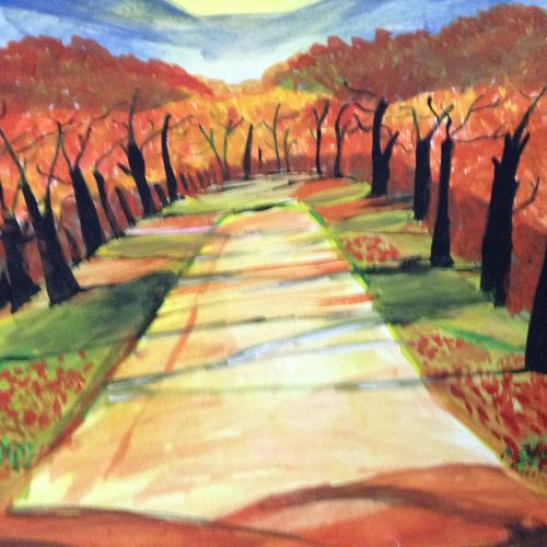 autumn, 14 x 11 inch, shweta pandey,landscape paintings,paintings for living room,drawing paper,watercolor,14x11inch,GAL012403475