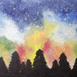 a magical night, 12 x 16 inch, cheena sehgal,12x16inch,canvas,paintings,nature paintings | scenery paintings,paintings for dining room,paintings for living room,paintings for bedroom,paintings for office,paintings for bathroom,paintings for kids room,paintings for hotel,paintings for kitchen,paintings for school,paintings for hospital,acrylic color,GAL02100534764