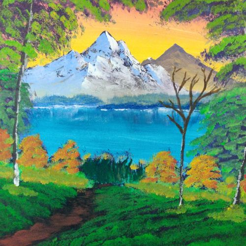 lake side view, 17 x 12 inch, swapnil jadhav,17x12inch,thick paper,paintings,landscape paintings,nature paintings | scenery paintings,paintings for dining room,paintings for living room,paintings for bedroom,paintings for office,paintings for hotel,poster color,paper,GAL02304434796