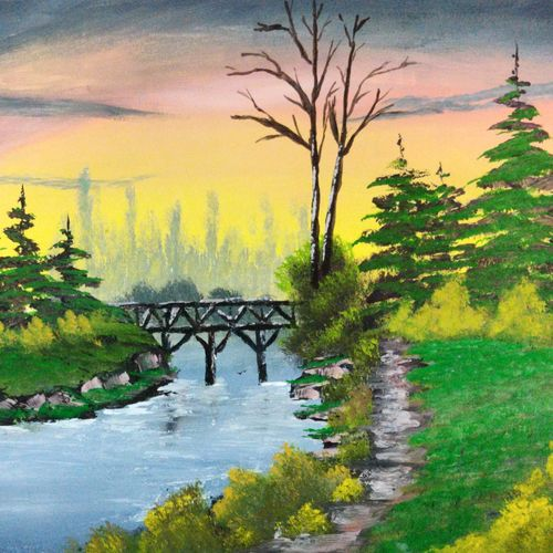 overbridge, 17 x 12 inch, swapnil jadhav,17x12inch,thick paper,paintings,landscape paintings,nature paintings | scenery paintings,paintings for dining room,paintings for living room,paintings for bedroom,paintings for office,paintings for hotel,paintings for kitchen,paintings for hospital,poster color,paper,GAL02304434799