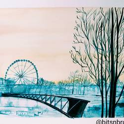 roue de paris, 12 x 8 inch, dr pratishtha rastogi,12x8inch,brustro watercolor paper,paintings,cityscape paintings,landscape paintings,nature paintings | scenery paintings,art deco paintings,illustration paintings,photorealism paintings,photorealism,realism paintings,street art,realistic paintings,paintings for dining room,paintings for living room,paintings for bedroom,paintings for office,paintings for bathroom,paintings for kids room,paintings for hotel,paintings for kitchen,paintings for school,paintings for hospital,watercolor,paper,GAL02238934801