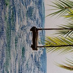 beach vibes, 8 x 11 inch, pradeepta behera,8x11inch,thick paper,paintings,modern art paintings,nature paintings | scenery paintings,paintings for dining room,paintings for living room,paintings for bedroom,paintings for office,paintings for hotel,paintings for hospital,acrylic color,GAL02305334804