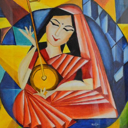 divine love, 27 x 24 inch, richa tat,27x24inch,canvas,figurative paintings,folk art paintings,modern art paintings,conceptual paintings,religious paintings,abstract expressionism paintings,radha krishna paintings,love paintings,paintings for dining room,paintings for living room,paintings for bedroom,paintings for office,paintings for hotel,paintings for dining room,paintings for living room,paintings for bedroom,paintings for office,paintings for hotel,oil color,GAL02306734807