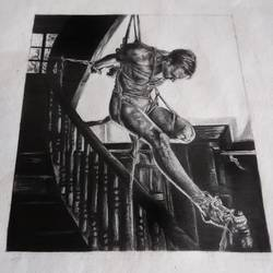 bondage is savior, 8 x 8 inch, himica sharma,8x8inch,paper,drawings,figurative drawings,fine art drawings,paintings for living room,paintings for bedroom,paintings for bathroom,paintings for hotel,graphite pencil,paper,GAL02307034815