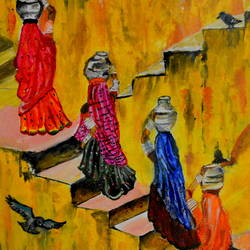 rangilo rajasthan, 19 x 15 inch, richa tat,19x15inch,canvas,paintings,folk art paintings,landscape paintings,modern art paintings,religious paintings,paintings for dining room,paintings for living room,paintings for bedroom,paintings for office,paintings for kids room,paintings for hotel,paintings for school,paintings for hospital,acrylic color,oil color,GAL02306734816