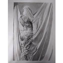 draped & hiding, 7 x 11 inch, himica sharma,7x11inch,paper,drawings,paintings for dining room,paintings for living room,paintings for bedroom,paintings for bathroom,paintings for hotel,figurative drawings,fine art drawings,paintings for dining room,paintings for living room,paintings for bedroom,paintings for bathroom,paintings for hotel,graphite pencil,paper,GAL02307034821