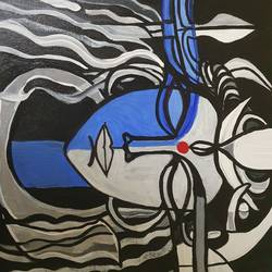 shiva , 14 x 18 inch, pallavee soni,14x18inch,canvas,abstract paintings,acrylic color,GAL02184034842