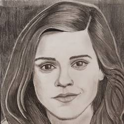 emma watson portrait , 8 x 12 inch, lin taji,8x12inch,thick paper,fine art drawings,illustration drawings,portrait drawings,realism drawings,charcoal,graphite pencil,paper,GAL02190034846