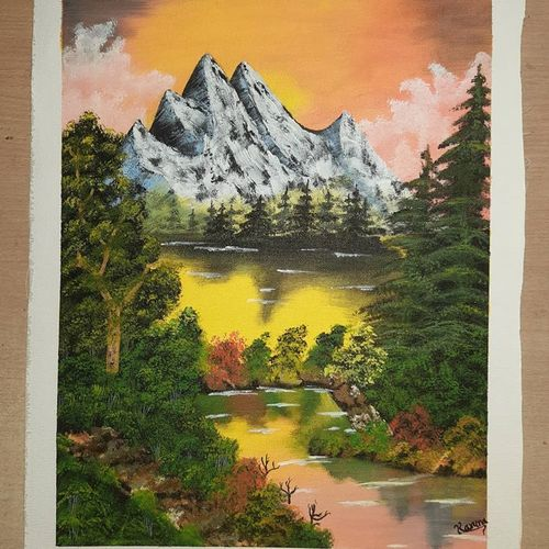 landscape painting on canvas, 15 x 19 inch, lalit kandpal,15x19inch,canvas,paintings,landscape paintings,paintings for dining room,paintings for living room,paintings for bedroom,paintings for office,paintings for bathroom,paintings for kids room,paintings for hotel,paintings for kitchen,paintings for school,paintings for hospital,acrylic color,GAL01729034847