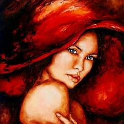 women-6, 25 x 35 inch, ashi  chaudhary ,portrait paintings,paintings for bedroom,canvas,acrylic color,25x35inch,GAL08923486