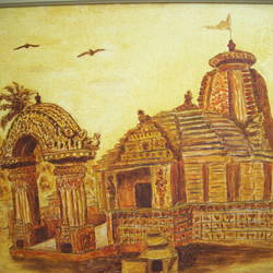 temple, 20 x 30 inch, dr karunakaran k,20x30inch,canvas,paintings,landscape paintings,paintings for living room,oil color,GAL02314734862