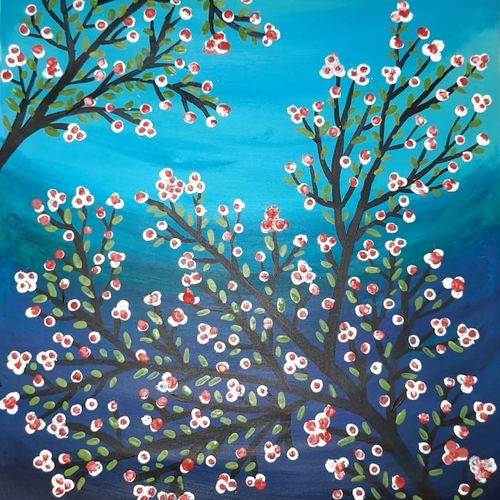 blooming buds, 12 x 8 inch, rimi ganguly,12x8inch,thick paper,paintings,nature paintings | scenery paintings,paintings for dining room,paintings for living room,paintings for bedroom,paintings for office,paintings for kids room,oil color,GAL02315634867