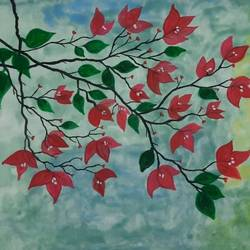 flower blooming, 12 x 9 inch, rimi ganguly,12x9inch,thick paper,paintings,flower paintings,paintings for dining room,paintings for living room,paintings for bedroom,paintings for office,paintings for dining room,paintings for living room,paintings for bedroom,paintings for office,watercolor,GAL02315634873