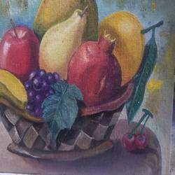 healthy fruits painting, 10 x 8 inch, william carey,10x8inch,canvas,paintings,paintings for dining room,oil color,GAL02211034883
