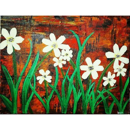 shades of lily, 9 x 12 inch, harika ramshetty,9x12inch,canvas,paintings,abstract paintings,wildlife paintings,flower paintings,landscape paintings,modern art paintings,paintings for dining room,paintings for living room,paintings for bedroom,paintings for office,paintings for kids room,paintings for hotel,paintings for school,paintings for hospital,acrylic color,GAL02318434885