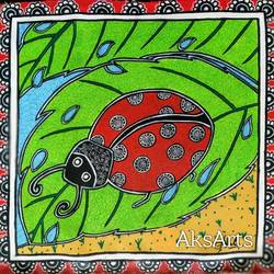 ladybug chilling in monsoon showers, 16 x 16 inch, akanksha sinha,16x16inch,canvas,paintings,folk art paintings,nature paintings | scenery paintings,animal paintings,madhubani paintings | madhubani art,paintings for dining room,paintings for living room,paintings for bedroom,paintings for office,paintings for bathroom,paintings for kids room,paintings for hotel,paintings for kitchen,paintings for school,paintings for hospital,paintings for dining room,paintings for living room,paintings for bedroom,paintings for office,paintings for bathroom,paintings for kids room,paintings for hotel,paintings for kitchen,paintings for school,paintings for hospital,acrylic color,pen color,GAL01104134893