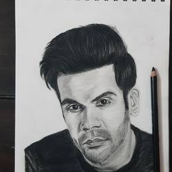 rajkumar rao, 8 x 12 inch, shivam balajee,8x12inch,paper,paintings for living room,paintings for bedroom,paintings for hotel,paintings for school,portrait drawings,realism drawings,paintings for living room,paintings for bedroom,paintings for hotel,paintings for school,charcoal,ball point pen,graphite pencil,paper,GAL02322334918