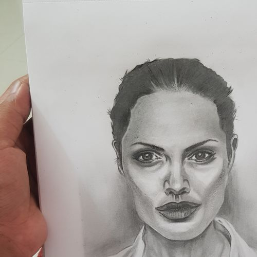 angelina jolie, 8 x 12 inch, shivam balajee,8x12inch,paper,paintings for dining room,paintings for living room,paintings for bedroom,paintings for office,paintings for bathroom,paintings for kids room,paintings for hotel,paintings for kitchen,paintings for school,modern drawings,photorealism drawings,portrait drawings,realism drawings,paintings for dining room,paintings for living room,paintings for bedroom,paintings for office,paintings for bathroom,paintings for kids room,paintings for hotel,paintings for kitchen,paintings for school,charcoal,graphite pencil,GAL02322334925
