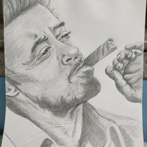 robert downey jr., 11 x 14 inch, subrata boral,11x14inch,paper,drawings,portrait drawings,paintings for dining room,paintings for living room,paintings for bedroom,paintings for office,paintings for kids room,paintings for hotel,paintings for school,pencil color,GAL02302334948