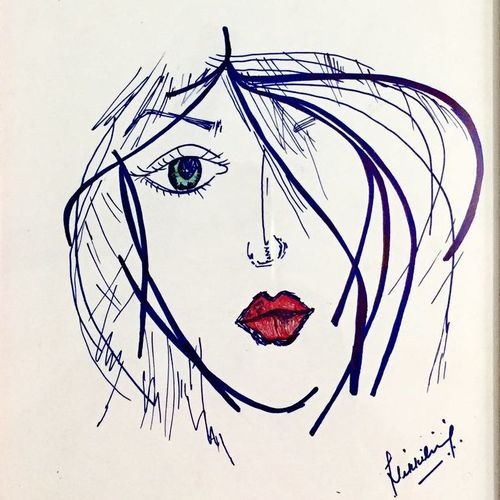 my sassi girl, 10 x 8 inch, nikki saini,portrait paintings,paintings for dining room,drawing paper,ink color,10x8inch,GAL011573495