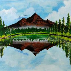 mirror reflections, 17 x 12 inch, swapnil jadhav,17x12inch,thick paper,paintings,landscape paintings,nature paintings | scenery paintings,paintings for dining room,paintings for living room,paintings for bedroom,paintings for office,paintings for hotel,paintings for school,paintings for hospital,poster color,GAL02304434954