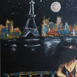 parisian nights, 36 x 48 inch, rupsha bose,36x48inch,canvas,paintings,acrylic color,GAL02334234976