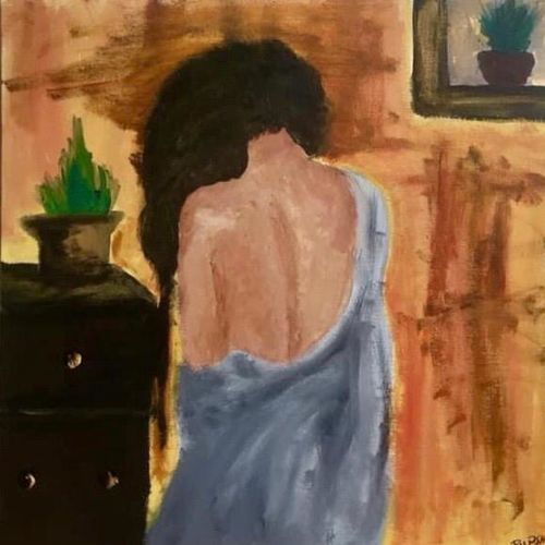 solitude, 20 x 20 inch, rupsha bose,20x20inch,canvas,paintings,conceptual paintings,contemporary paintings,paintings for living room,paintings for bedroom,paintings for office,paintings for living room,paintings for bedroom,paintings for office,acrylic color,oil color,GAL02334234980