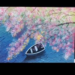 bird eye view of river, 16 x 12 inch, dipti singh,16x12inch,canvas,landscape paintings,nature paintings | scenery paintings,realistic paintings,love paintings,paintings for dining room,paintings for living room,paintings for office,paintings for hotel,paintings for dining room,paintings for living room,paintings for office,paintings for hotel,acrylic color,GAL01732234991