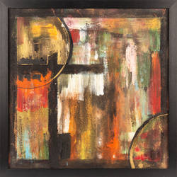 clocks, 16 x 16 inch, babita jain,16x16inch,canvas board,paintings,abstract paintings,paintings for dining room,paintings for living room,paintings for bedroom,paintings for hotel,acrylic color,GAL02323935011