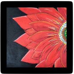 red sun flower, 18 x 21 inch, arpita  gupta,18x21inch,canvas,paintings,flower paintings,paintings for dining room,paintings for living room,paintings for bedroom,paintings for office,paintings for hotel,paintings for kitchen,paintings for school,paintings for hospital,acrylic color,GAL02331235013