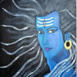 lord shiva, 16 x 20 inch, nikhil singh rawat,16x20inch,canvas board,paintings,religious paintings,lord shiva paintings,paintings for living room,paintings for office,paintings for kids room,paintings for hotel,paintings for school,paintings for hospital,acrylic color,GAL02338635027