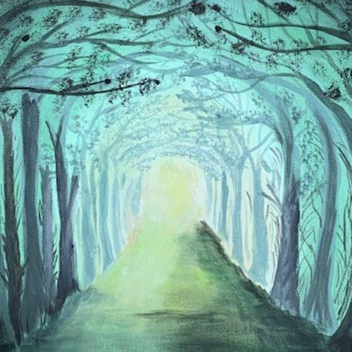 misty forest, 16 x 12 inch, akanksha shrivastava,16x12inch,canvas,paintings,landscape paintings,nature paintings | scenery paintings,paintings for dining room,paintings for living room,paintings for bedroom,paintings for office,paintings for bathroom,paintings for hotel,paintings for dining room,paintings for living room,paintings for bedroom,paintings for office,paintings for bathroom,paintings for hotel,acrylic color,GAL02340035034