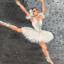 ballerina, 16 x 20 inch, akanksha shrivastava,16x20inch,canvas,paintings,figurative paintings,children paintings,paintings for dining room,paintings for living room,paintings for bedroom,paintings for bathroom,paintings for kids room,paintings for hotel,paintings for kitchen,paintings for school,acrylic color,GAL02340035035