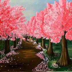 cherry blossoms, 20 x 16 inch, akanksha shrivastava,20x16inch,canvas,landscape paintings,paintings for dining room,paintings for living room,paintings for bedroom,paintings for office,paintings for bathroom,paintings for kids room,paintings for hotel,paintings for kitchen,paintings for school,paintings for hospital,paintings for dining room,paintings for living room,paintings for bedroom,paintings for office,paintings for bathroom,paintings for kids room,paintings for hotel,paintings for kitchen,paintings for school,paintings for hospital,acrylic color,GAL02340035040
