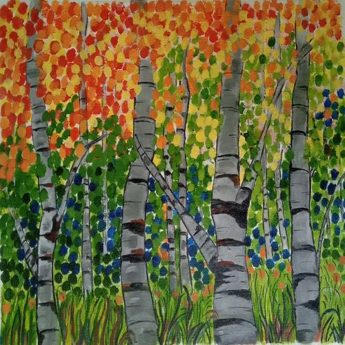 the forest , 17 x 12 inch, abhik mahanti,17x12inch,canvas,paintings,abstract paintings,landscape paintings,nature paintings | scenery paintings,acrylic color,GAL0404435046