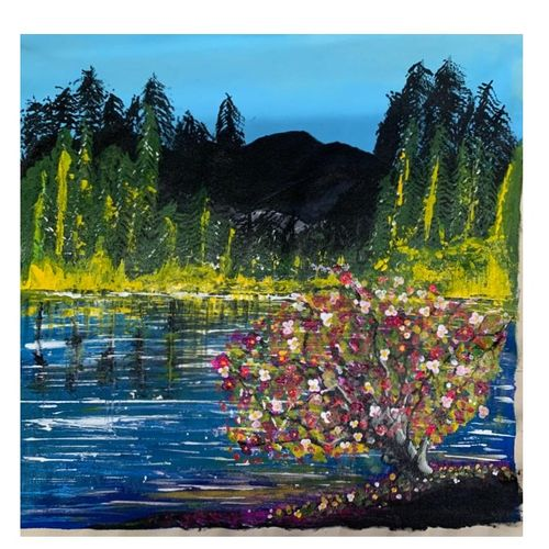 landscape painting, 24 x 23 inch, arpita  gupta,24x23inch,canvas,paintings,abstract paintings,landscape paintings,nature paintings | scenery paintings,paintings for dining room,paintings for living room,paintings for bedroom,paintings for office,paintings for bathroom,paintings for kids room,paintings for hotel,paintings for kitchen,paintings for school,paintings for hospital,acrylic color,GAL02331235061