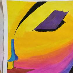 thoughts of a girl, 9 x 12 inch, manya sharma,9x12inch,drawing paper,paintings,abstract paintings,modern art paintings,abstract expressionism paintings,expressionism paintings,minimalist paintings,pen color,pencil color,poster color,watercolor,paper,GAL02310735076