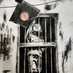 freedom 3, 12 x 16 inch, kaushik nandi,12x16inch,thick paper,paintings,conceptual paintings,paintings for dining room,charcoal,GAL02332735091